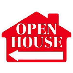red sign open house