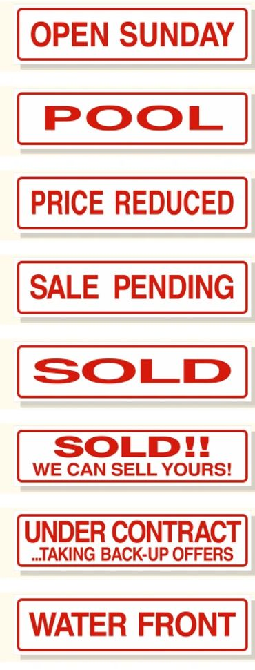 rider signs for sale pending or sold