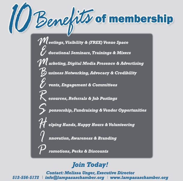 10 Benefits of Membership Ad