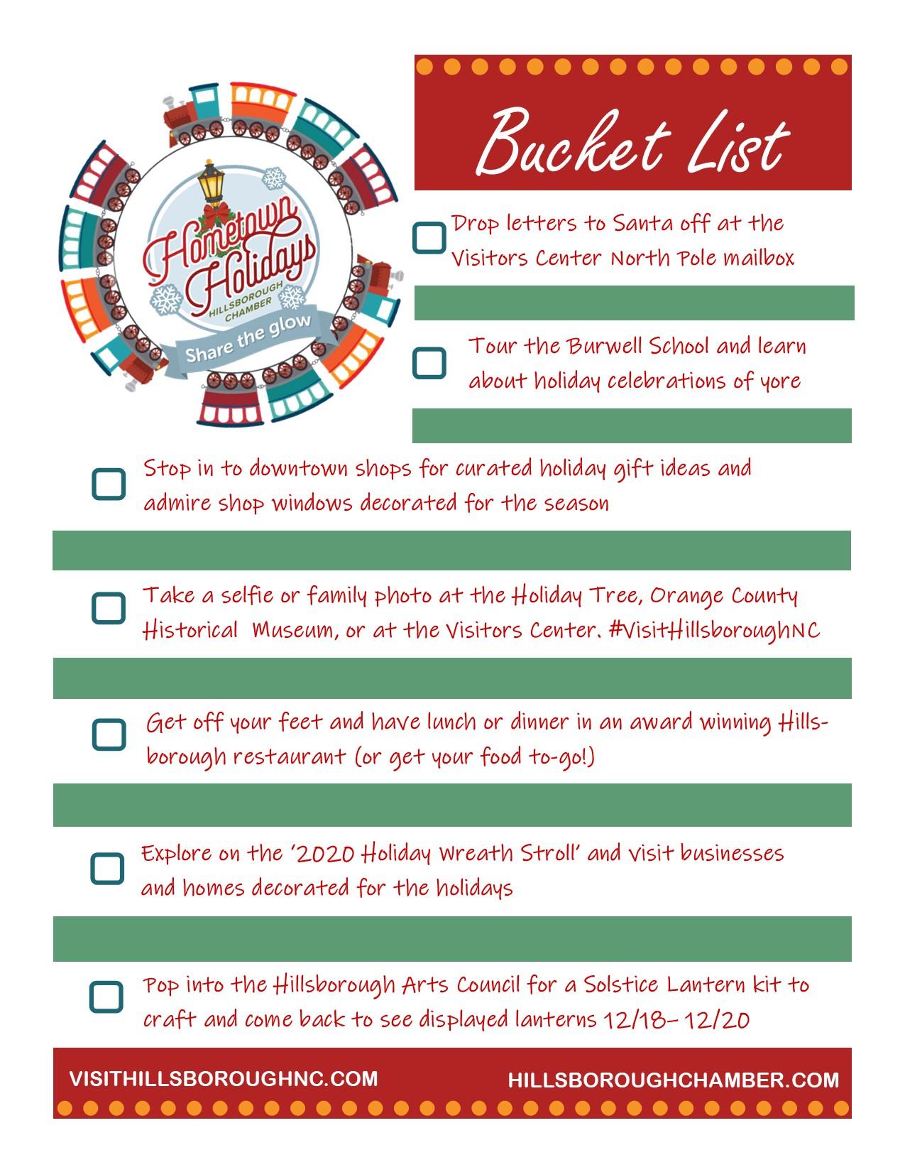 Hometown Bucket List