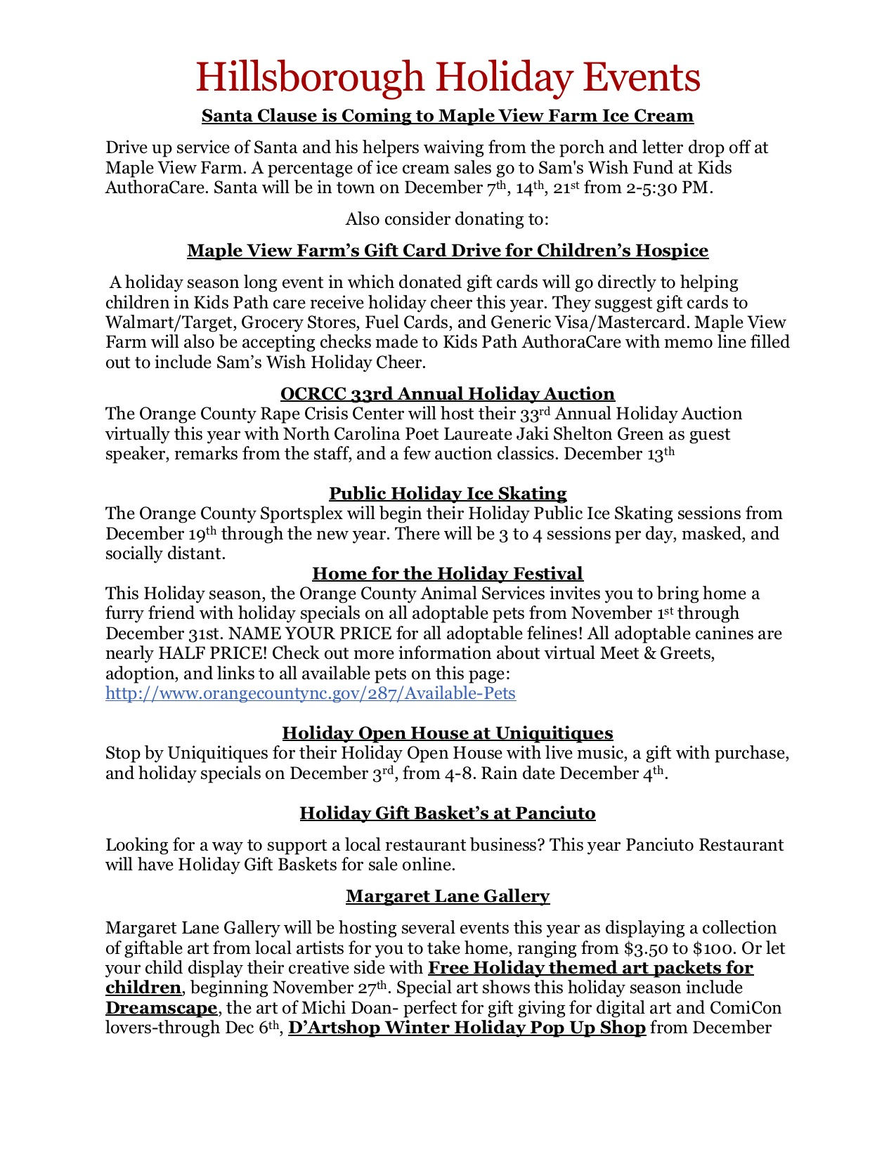page 1 events