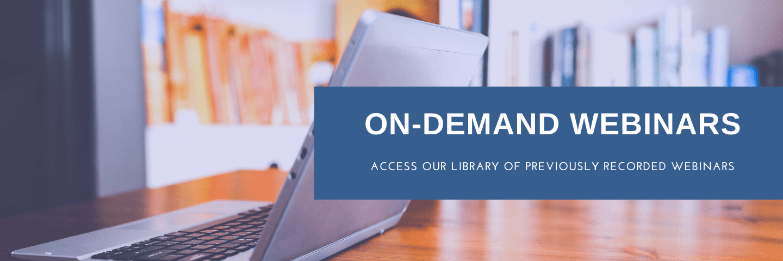 On Demand Webinars