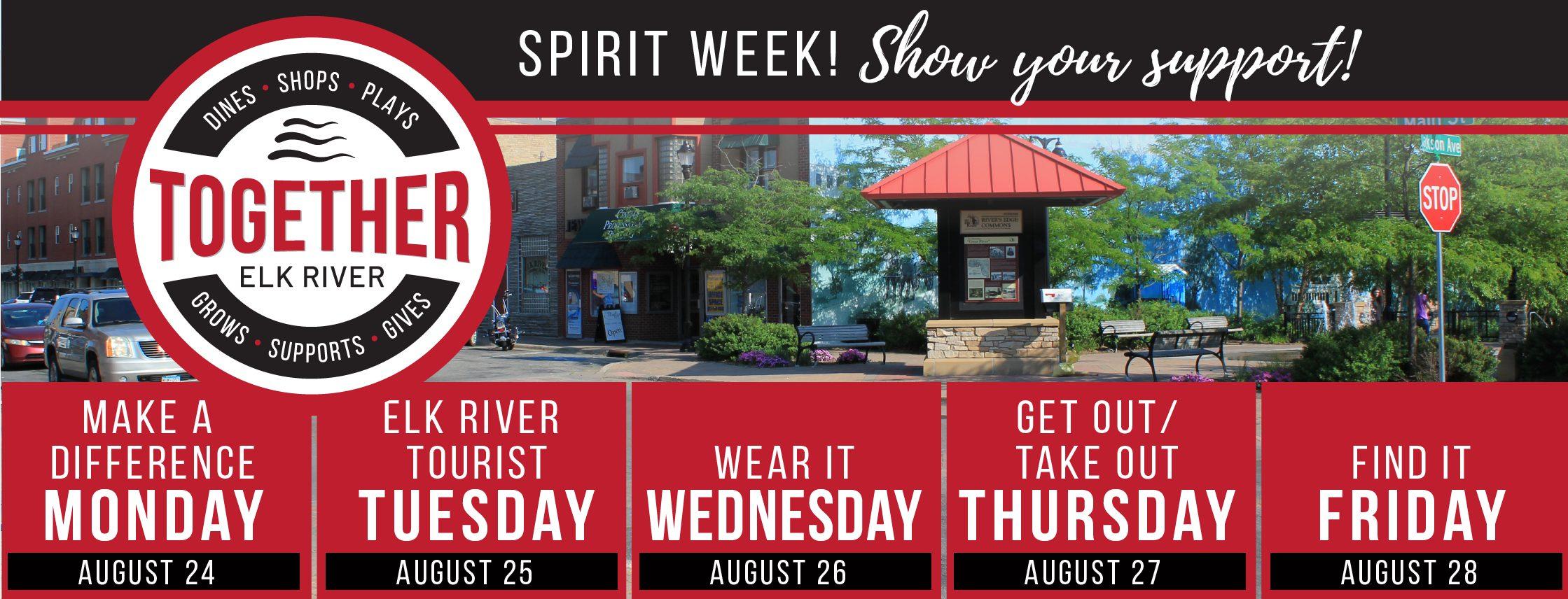 Together Elk River Spirit Week August 23rd-29th, 2020