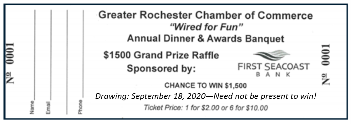 Banquet raffle ticket