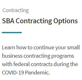 SBA Contracting Options Image