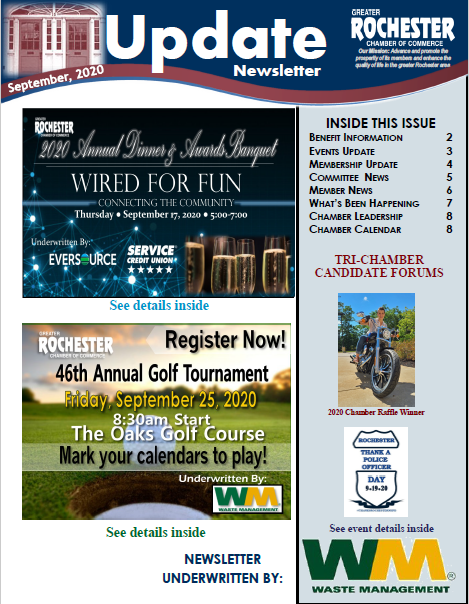 September 2020 Newsletter Cover