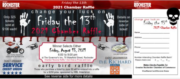 2021 Chamber Raffle Ticket image