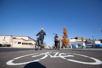 Downtown Biking