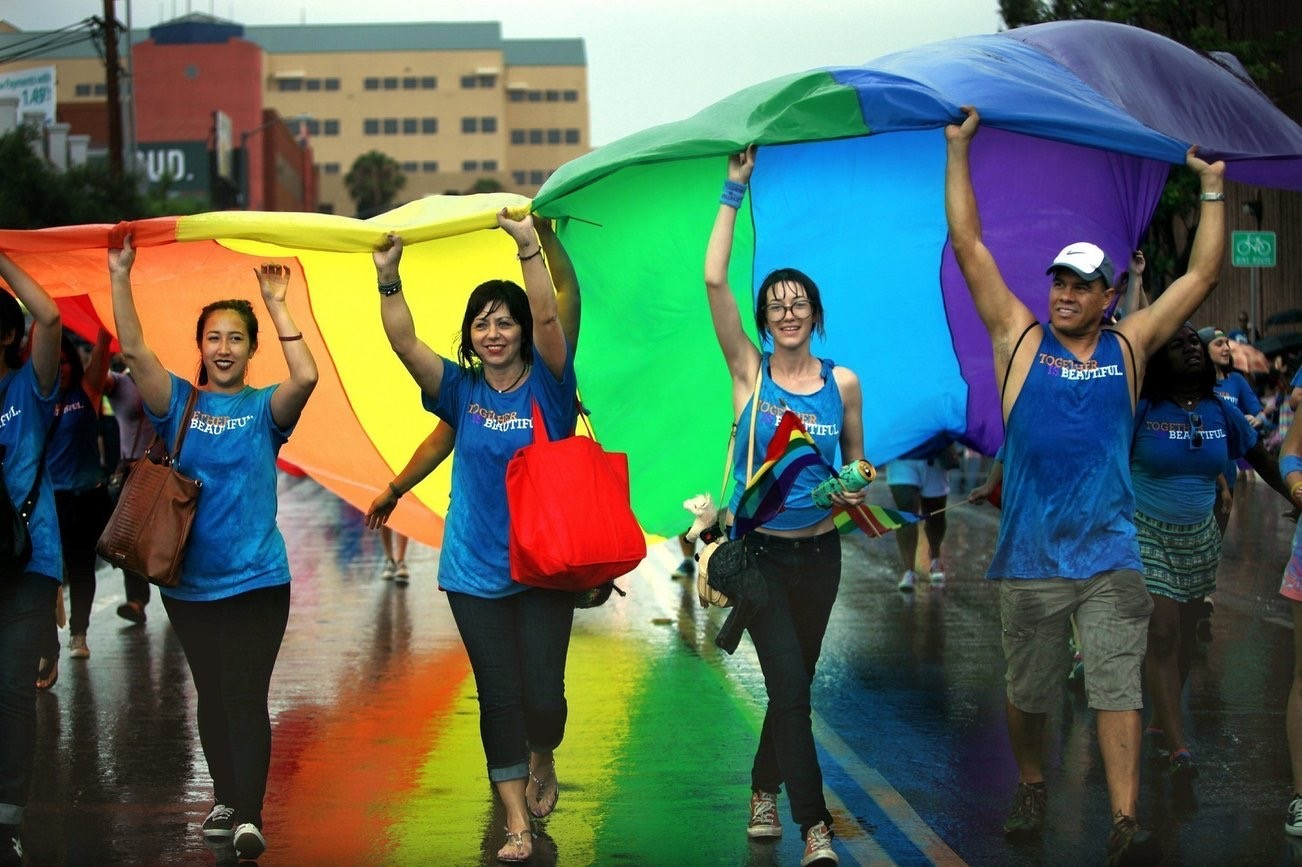 """With the second year of no Pride Parade scheduled, San Diego Pride instead hosted a  """"Resilient Community March"""" on Sunday, July 11, allowing community members to march in unison from Balboa Park to the Pride Flag Pavilion in Hillcrest. (Photo by .... )"""