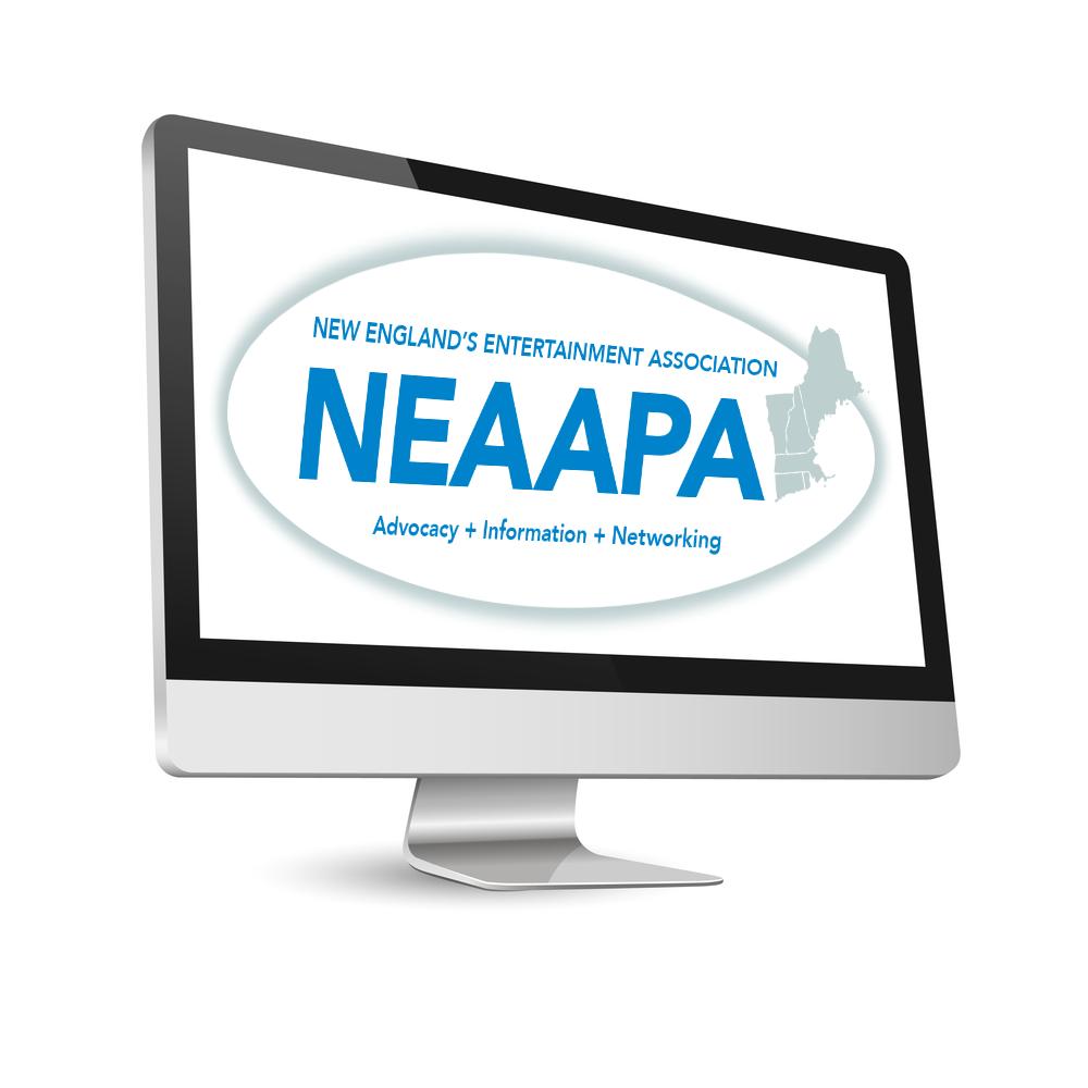 NEAAPA Logo on computer screen