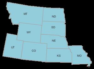 Mountain Region Map