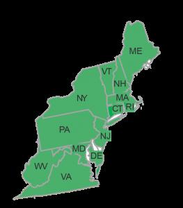 Northeast Region Map