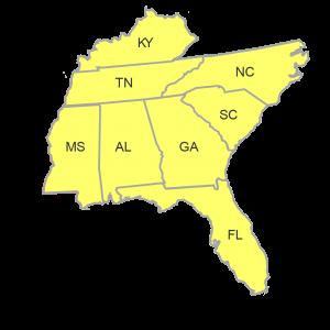 ASA Southeast Region Map