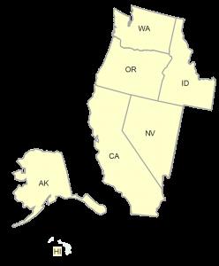ASA Western Region Map