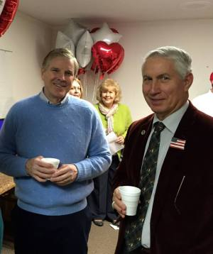 Mayor Jay Donecker & County Commissioner Mark Richardson at Tech Authority's Chamber Coffee