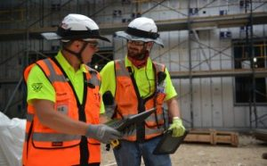Two Flintco Construction Workers