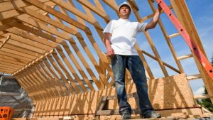 Photo of building framing a home