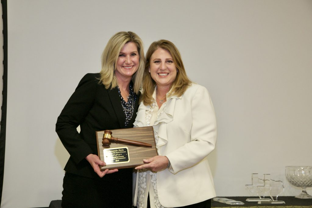 Amanda Stolz - Chairman of the Chamber Board Recognition from Chamber CEO, Wende Ragonis