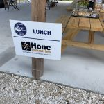 Honc lunch sign