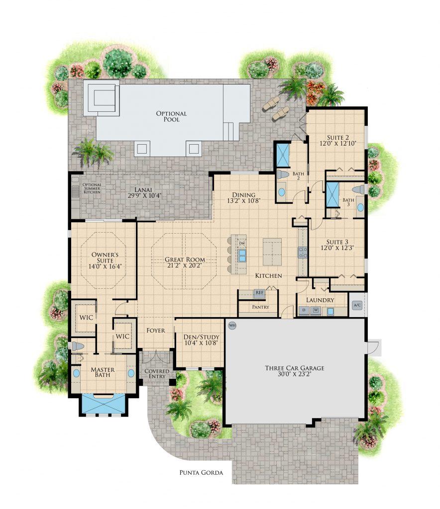 DMI Homes Punta Gorda Isles Floor Plan