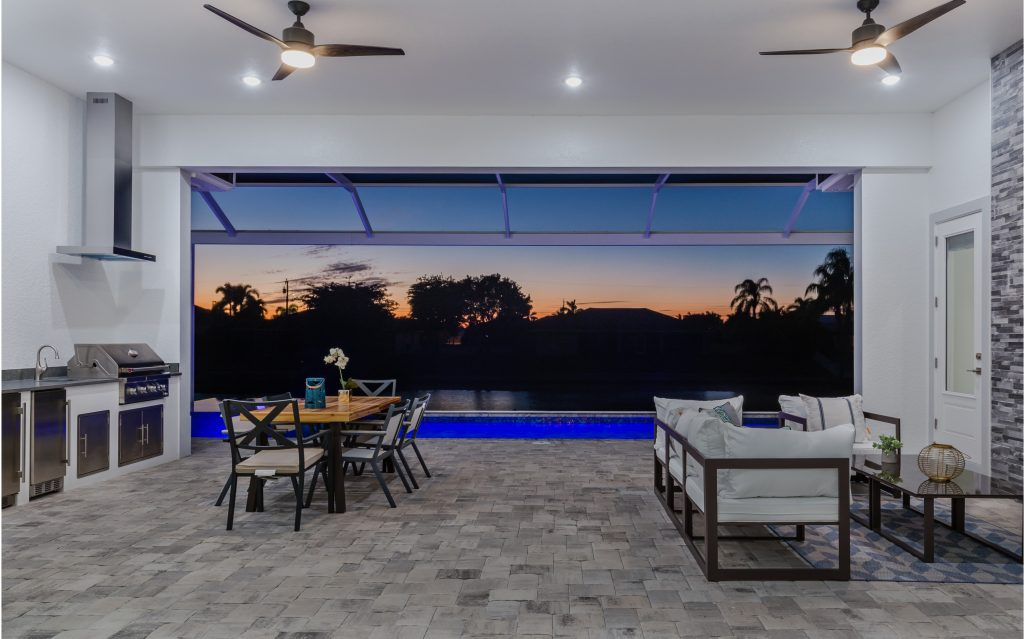 SWFL DreamHomes Cover Home Patio evening