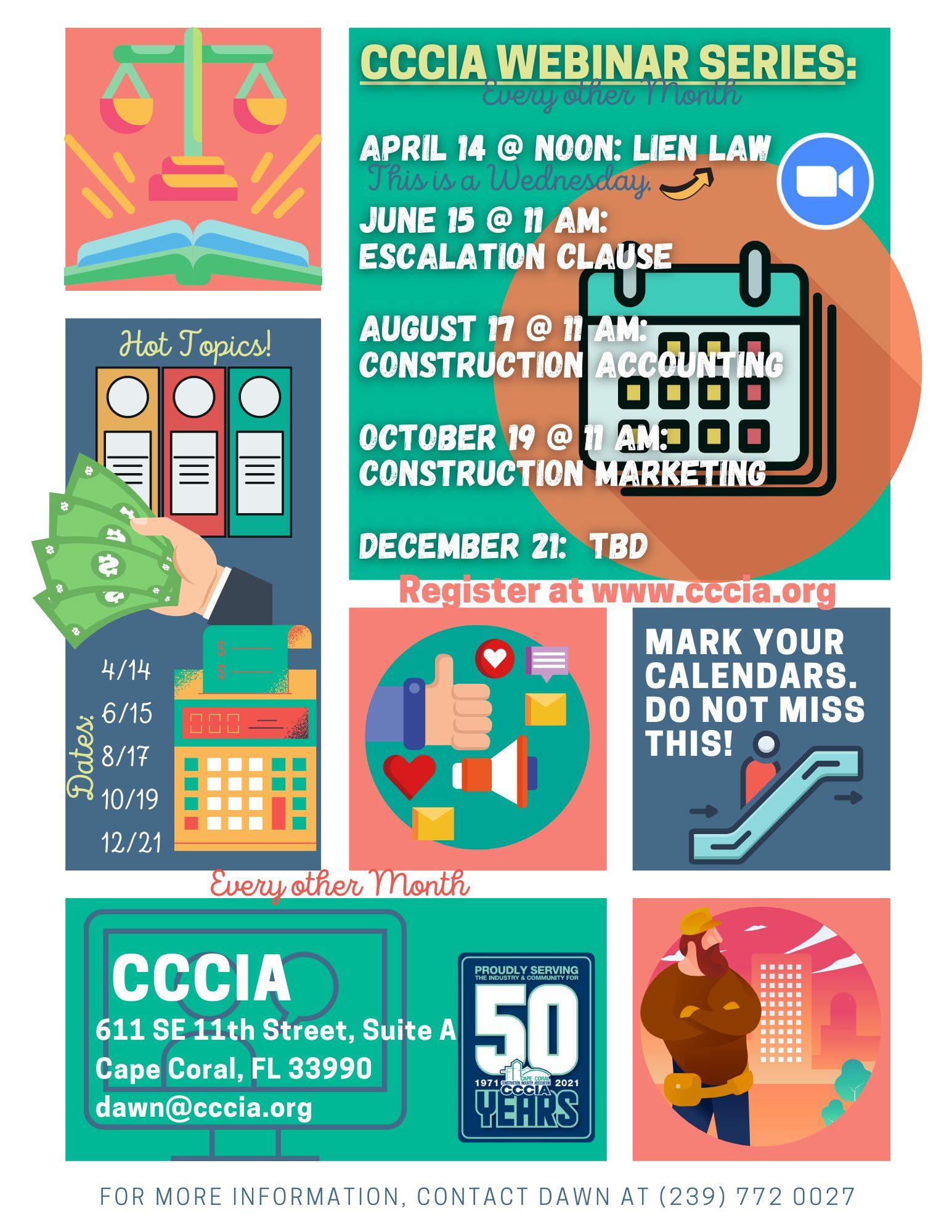 CCCIA 2021 Webinar Series Flyer