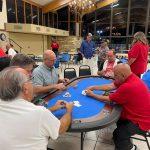 Playing Poker blue