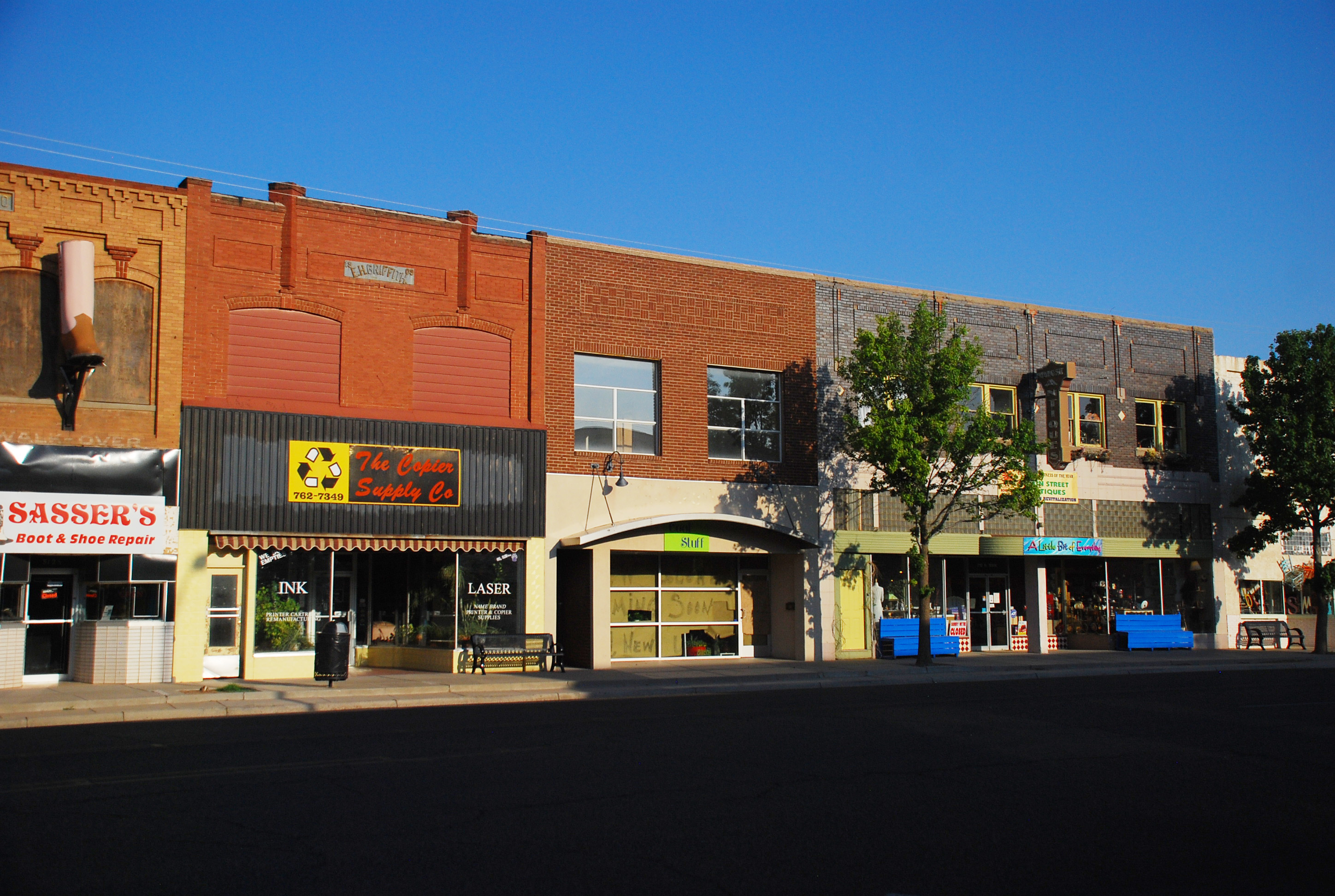 A photo of historic downtown Clovis, New Mexico