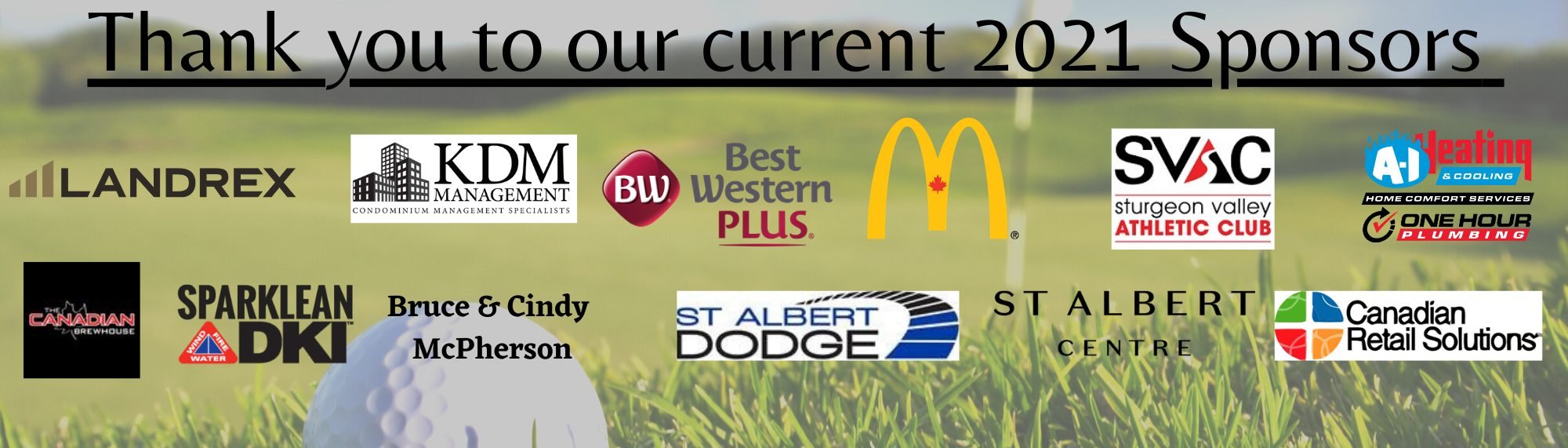 Thank you to our Current Sponsors March 31