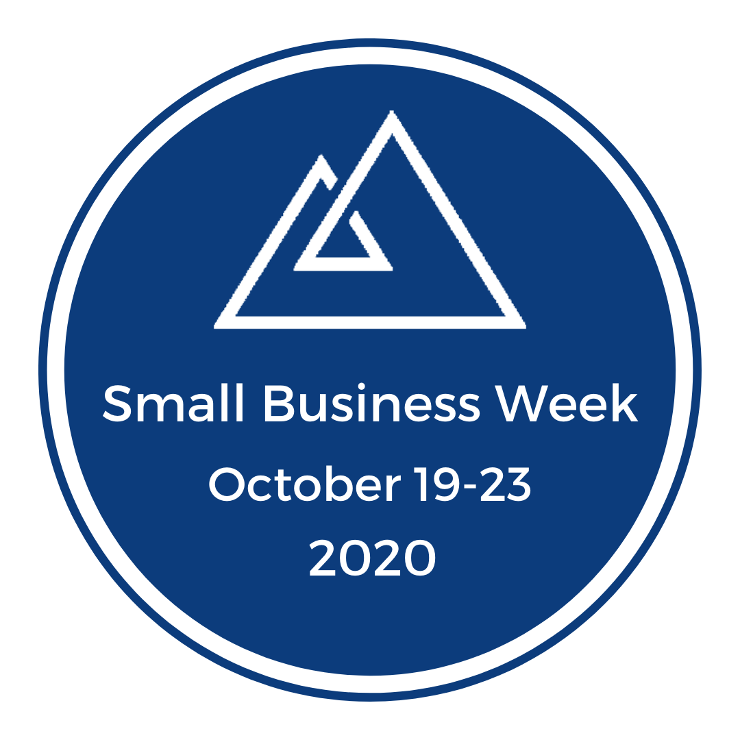 Small Business Week Logo White & Navy