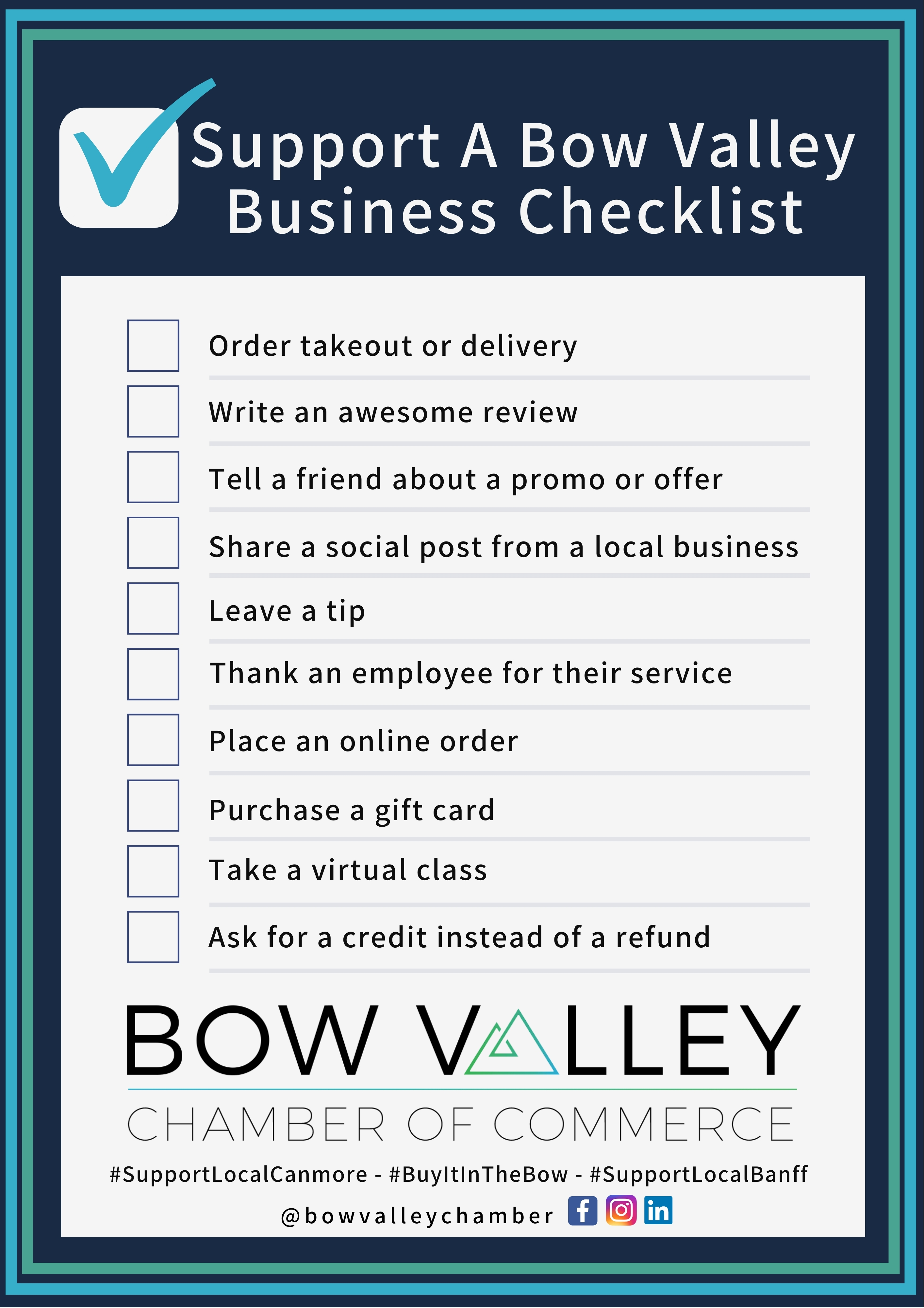 BVCC support a local business checklist