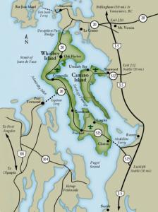 Island County Map 561 x 750