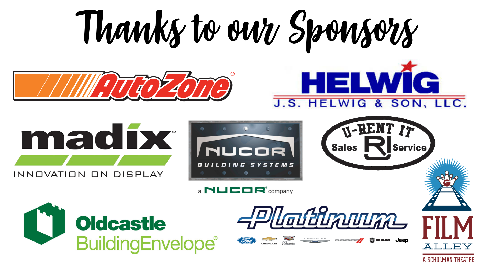 Thanks to our Sponsors - updated2