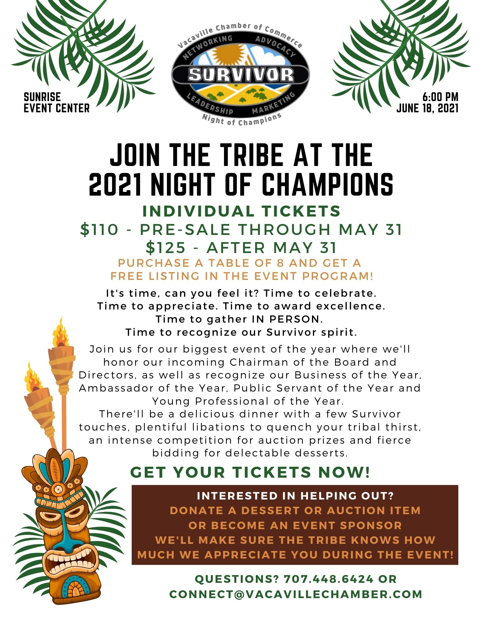 Night of Champions event flyer 2021