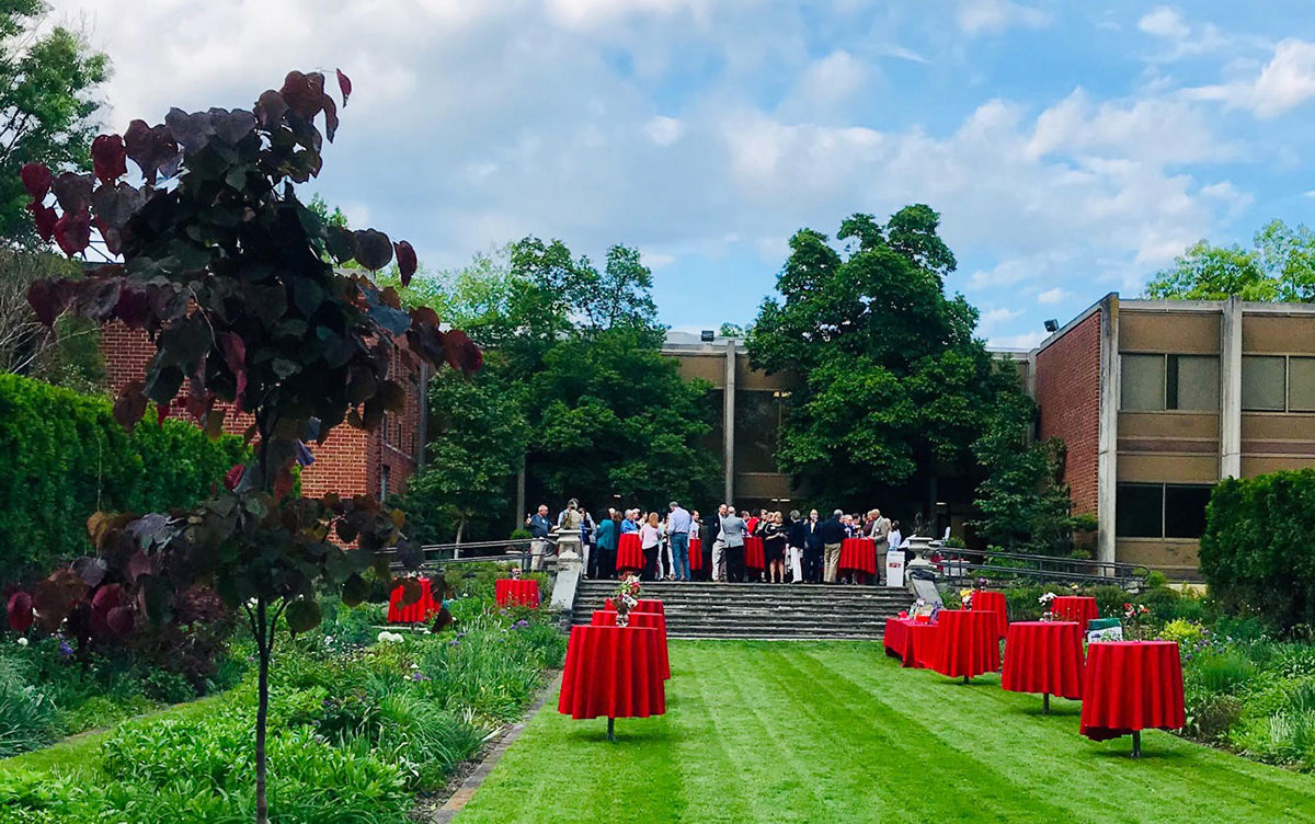 Temple University Ambler brought enhanced visibility to their campus by hosting a networking event in their beautiful gardens.