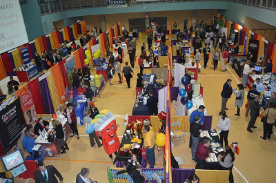 The EMCCC Business Expo attracts hundreds of visitors to attend. Over 65 exhibitors display their services & products.