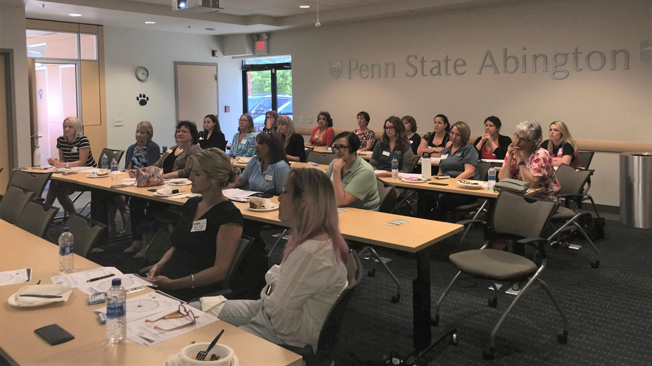 EMCCC Women's Group learns about Managing Change & Learning to Become Resilient during lunch program at Penn State Abington 611 location