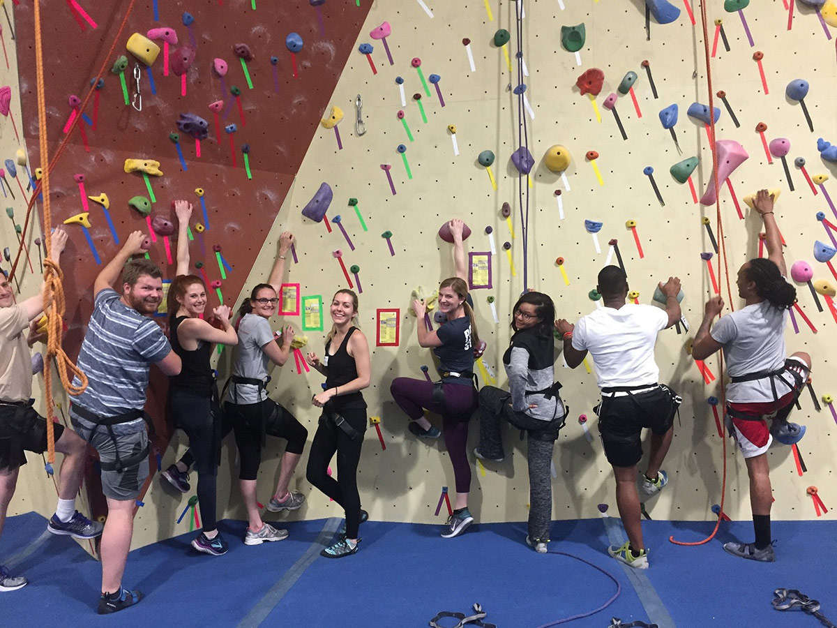 EMCCC Young Professionals enjoy rock climbing at the Philadelphia Rock Gym - Wyncote