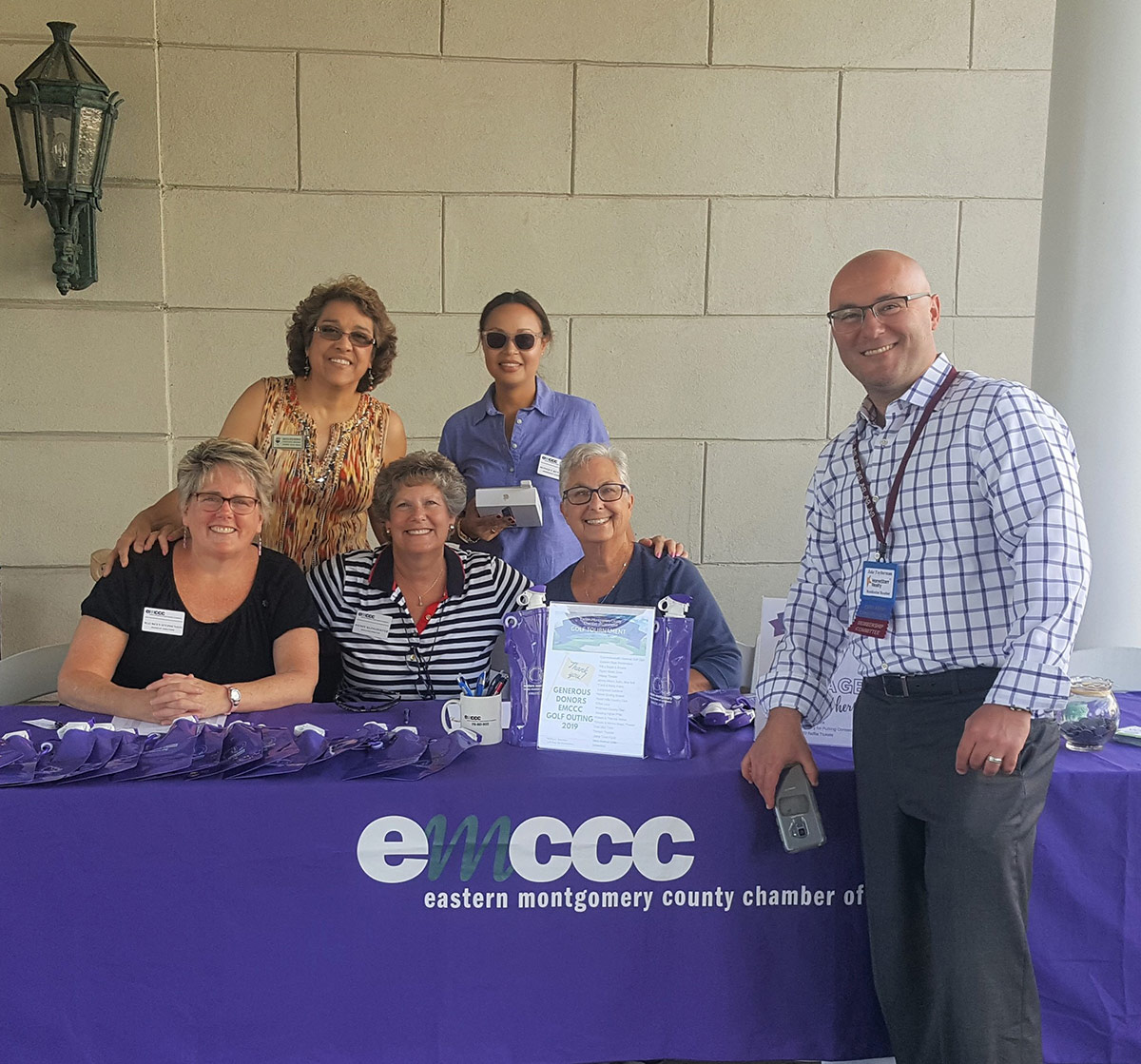 EMCCC volunteers and staff are ready to greet and welcome guests at the first annual Golf outing.