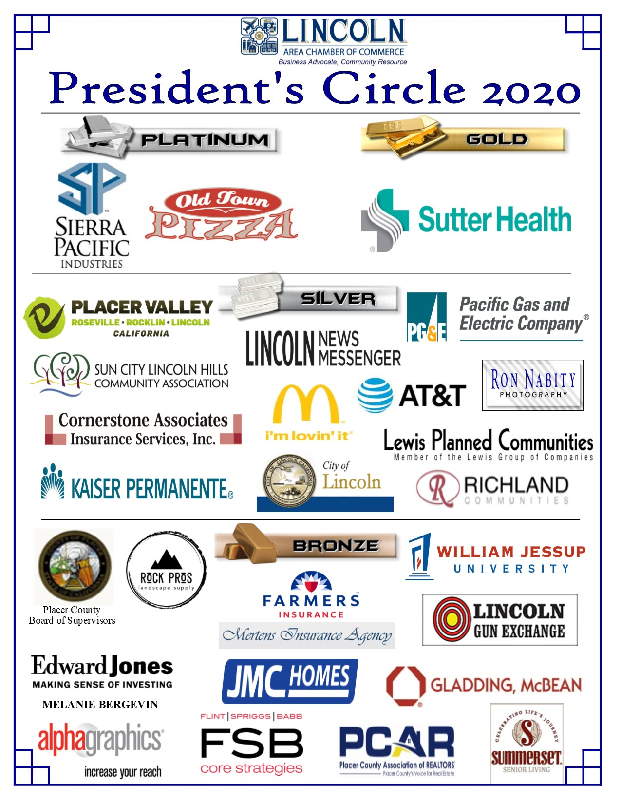 President's Circle Partners_Photo of all logos