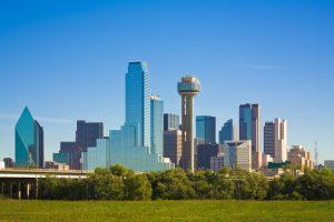Dallas city skyline, Dallas, Texas, the Dallas part of the Dallas/FortWorth Metroplex