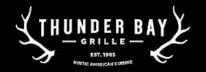 Thunder Bay Grille Logo - White