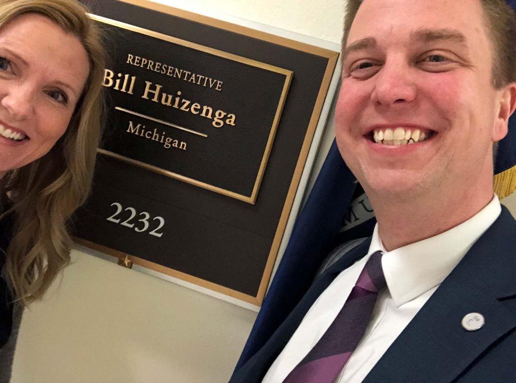 Stopping by U.S. Congressman Bill Huizenga's DC office