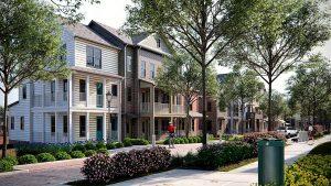 Mixed income neighborhood in Alexadria, VA.
