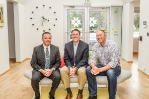 Pete Haines, Brad Haverkamp and Seth Bushouse