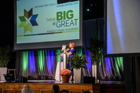 Chamber President Jane Clark at the 2019 Annual Meeting
