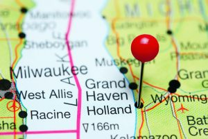 Holland pinned on map