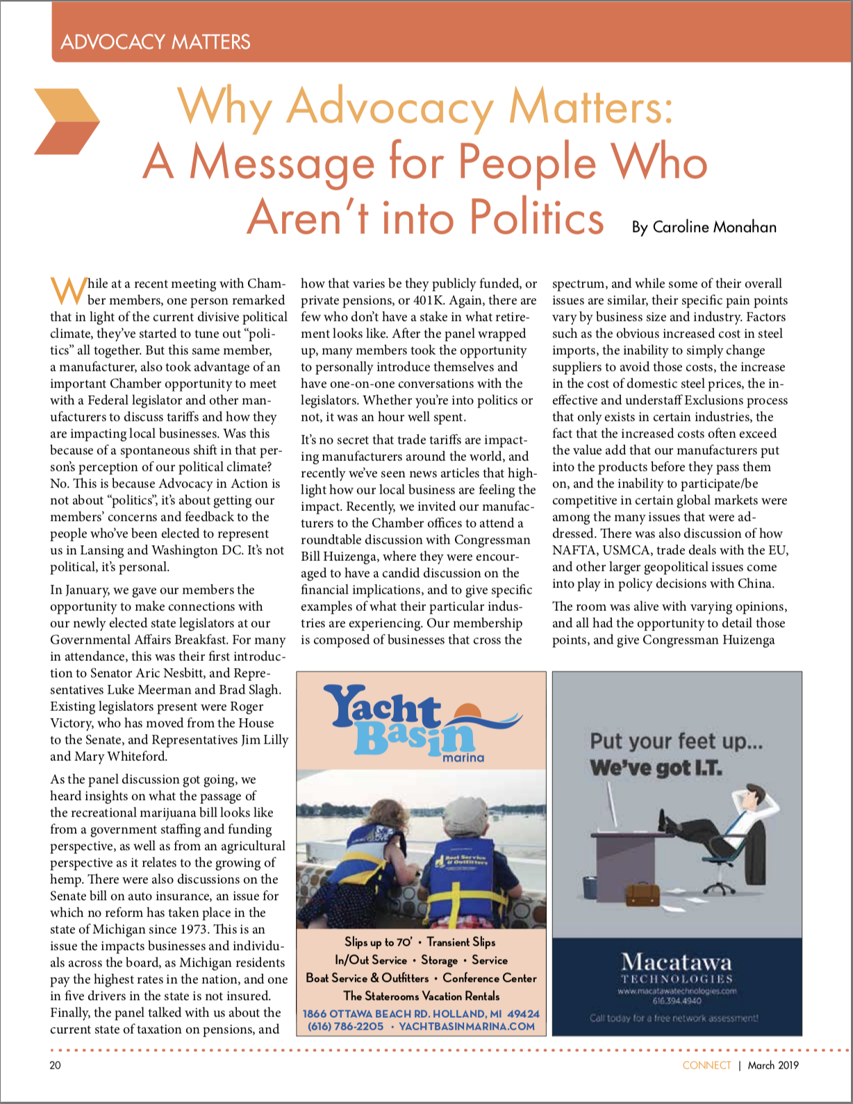 Connect Magazine Article