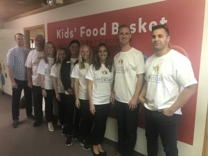 Volunteers at Kids Food Basket