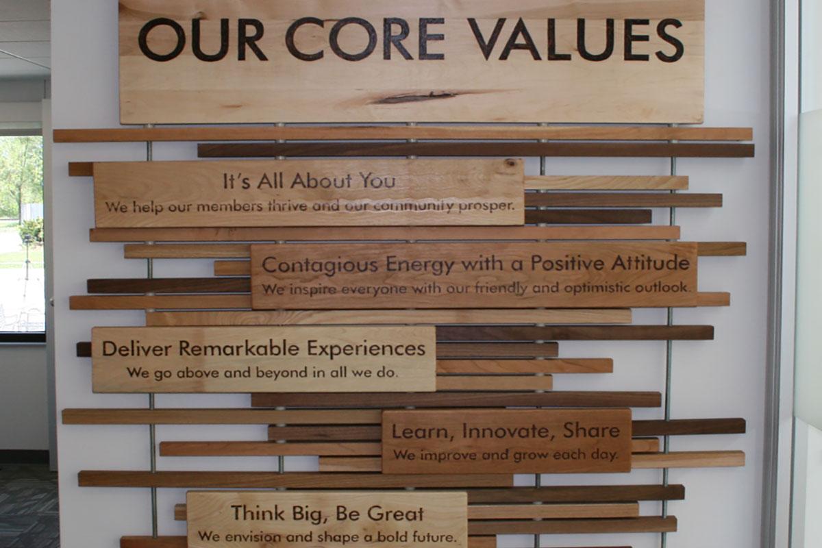 Core Values Wall